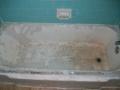 Porcelain tub & tile walls (before)