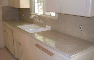 After Speckle Finish (tile kitchen counter)
