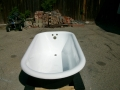 Claw Foot tub (after-inside high gloss white, outside matte black)